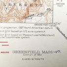 Antique Greenfield, Massachusetts 1941 US Geological Survey Topographic Map - Montague, Turners Falls, Deerfield, Sunderland Gill Wapping MA