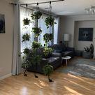 Adjustable plant hanger, multiple plants display, room divider, hanging shelves, wall planter, macrame, space saving planter, window shelves