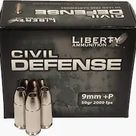 Liberty Civil Defense Ammunition 9mm Luger +P