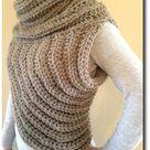 Cross Body Cowl/Archer's Sweater - Crochet Pattern -English/German