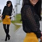 Mustard Yellow Skirts