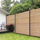 WPC Zaun Fehmarn Ca. 180x180cmin Anthrazit/silber günstig kaufen | eBay