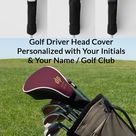 Monogrammed Leather Look Golf Driver Head Covers