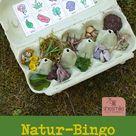 Natur-Bingo für Kinder (Druckvorlagen und Spielideen)  #bingo #druckvorlagen #kinder #natur #spielefürkinder #spielideen