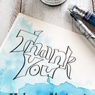 Make an Abstract Thank you Card