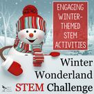 Winter STEM   A Winter Wonderland Themed STEM Activity Pack Holiday STEM