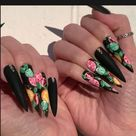 It's All About The Nails Baby 💅🖤 #mylook #nail #nailart #nailsalon #nails #blacknails #naildesign