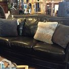 Dark Leather Couches