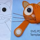 Peek-a-Boo Cat Activity Page SVG & Printable PDF Template, Quiet Book Page for YouTube Tutorial