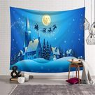 Leaping Deer Christmas Tapestry - 200x150cm