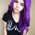 Girl With Purple Hair