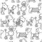coloriage adulte art therapie les chiens à colorier