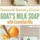 Homemade Rosemary Citrus Goat's Milk Soap