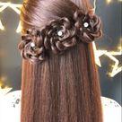 Flower braided hairstyles ideas in 2020  Gorgergous Hair Braiding Tutorial  The Easiest Flower Braid