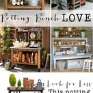 Potting Bench Love- look for less - House of Hargrove
