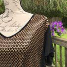 Chico's Womens Black Matte Gold Sequin Top 3 XL