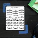Audition & Callback // Foil // Sticker Sheet - Soft Gold