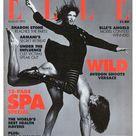 Elle UK Aug 1993  British Original Vintage Fashion Magazine Gift Birthday Present Stephanie Seymour & Marcus Schenkenburg cover