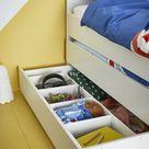 SLÄKT Unterbett mit Aufbewahrung, weiß 90x200 cm