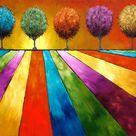 Magical Place Landscape Art Postcard   Zazzle.com