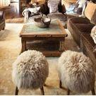 Stool Fur Chair  Rose Mongolian Lamb Fur Genuine   Etsy