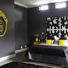 Gray Yellow Bedrooms