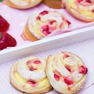 Erdbeer-Vanillepudding-Schnecken - Rezept | verzuckert-blog.de