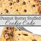 Peanut Butter Stuffed Cookie Cake