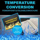 Temperature Conversion PowerPoint and Differentiated Foldable for INB