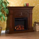 Darby Home Co Prejean Electric Fireplace Brown/Red 40.25 x 44.75 x 14.0 in | Home Decor | Wayfair Canada