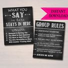Counseling Office Confidentiality Poster and Group Rules Sign | Etsy