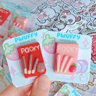 Pocky Clay Pins - Chocolate