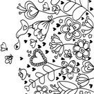 Hearts 23 Advanced Coloring Page