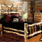Log Bed Frame