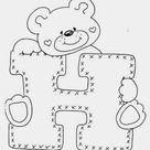 Alfabeto Ursinho para imprimir