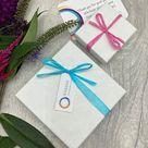 Aquamarine Blue Infinity Loop Sterling Silver Earrings, Birthstone, Gift for her