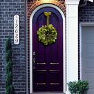 Purple Front Doors