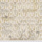 Fabric Upholsterers Gold Multi, PWTH 112, Memoranda III Collection from Tim Holtz for Free Spirit.   fat 1/4