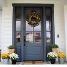 Fall Front Porch Inspiration + Paint Colors - Favorite Paint Colors Blog