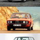 1973 BMW line up 2002 tii / 2002 Baur / 2002 Turbo / E12 5 serie / E3 / E9 CS / E9 CSL / Germany