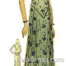 1930 Dress or Evening Gown D30 3521   Dress/Evening gown, 33 bust
