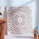 Best of home Wandbild Ornament 60 cm x 60 cm Weiß kaufen bei OBI