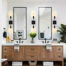 Details about 2-Light Industrial Wall Sconce Light Fixture Indoor Black Bathroom Vanity Light
