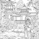 Orient  Printable Adult Coloring Page from Favoreads   Etsy