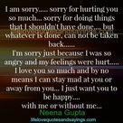 Sorry For Hurting You