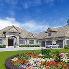 European Home Plan with In-Law Suite