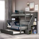 Mimi Twin Over Full 5 Drawer Solid Wood Standard Bunk Bed by Harriet Bee