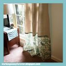 No Sew Curtains on a Budget!
