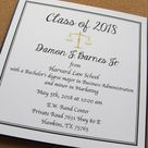 Law School Graduation Announcement - Graduation Invitation - 2018 Graduate - Graduation Party Invite - Lawyer - Attorney