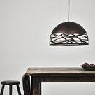 Lodes-Studio Italia Kelly Pendelleuchte braun, Handgefertigt in Italien, Wohnzimmer/Schlafzimmer, Metall Pendellampe E27